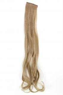 2 Clips Extension Strähne wellig Asch-Blond YZF-P2C25-16 65cm Haarverlängerung