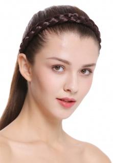 Haarband Haarreif geflochten Tracht traditionell mattes braun braid CXT-007-035