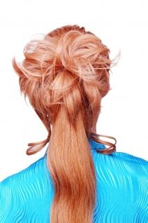 Haarteil Scrunchy Haarrose Steckkamm voluminös lockig Blond YZF-3072HT-22