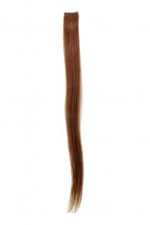 1 CLIP Extension Strähne glatt Dunkel-Asch-Blond YZF-P1S25-12 65cm Verlängerung