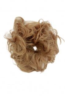 Haarteil: Zopf Dutt Scrunchy Haarband Haargummi Pferdeschwanz Blond YZF-3054A-18