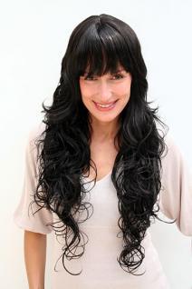 Perücke schwarz wallendes Haar 4306-1B