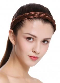 Haarband Haarreif geflochten traditionell sehr breit rotbraun braid CXT-005-033