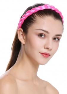 Haarband Haarreif geflochten traditionell sehr breit rosa pink braid CXT-005-309