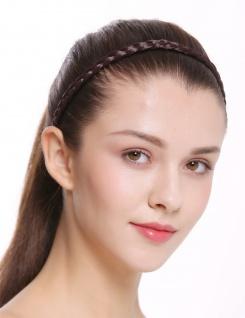 Haarband Haarreif geflochten Tracht traditionell mattes braun braid CXT-009-035
