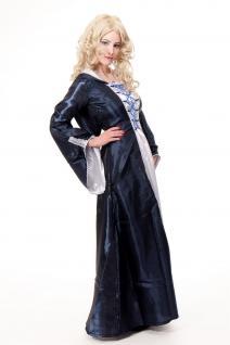 Kostüm Damenkostüm Blaues Kleid Haube Mittelalter Elfe Fee Magierin Cosplay L080 - Vorschau 3