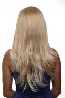 Clip-in Haarteil mit 7 Klammern 3/4 Perücke Blond-Mix ca. 60cm H9505-27T88