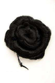 Haarteil Haarrose Haardutt Dutt Bun schwarz spiralförmig 14 cm 90047L-1B