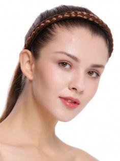 Haarband Haarreif geflochten Tracht traditionell rehbraun braid CXT-003-233