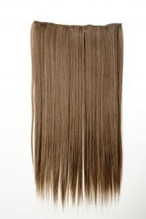 Haarteil Haarverlängerung breit 5 Clips dicht glatt Hellbraun 60 cm L30172-14