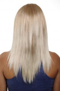 Clip-in Haarteil mit 5 Klammern, 3/4 Perücke, Blond-Mix, ca. 50cm HD1401-27T88
