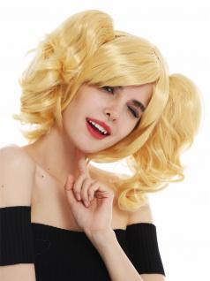 Perücke Karneval Cosplay Damen Girly Gothic Lolita abnehmbare Zöpfe blond
