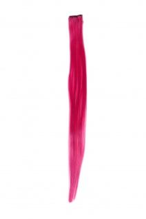 1 Clip Extension Strähne Haarverlängerung glatt Dunkelpink 45cm YZF-P1S18-T2127