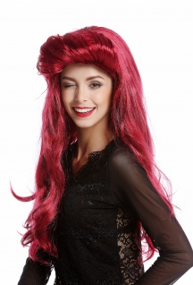 Perücke Damenperücke Halloween Karneval sexy Vamp lang rot Tolle 70er 80er