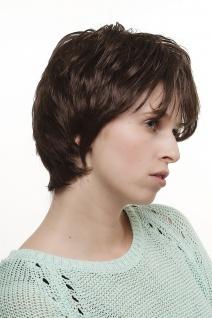 Perücke Damenperücke Wig kurz toupierte kesse Strähnen braun ca. 25 cm 1247-6 - Vorschau 2