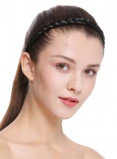 Haarband Haarreif geflochten Tracht traditionell tiefschwarz braid CXT-008-001