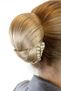 Haarteil: aufwendig geflochter Zopf Dutt Haarknoten Tracht Blondmix 907-24B613