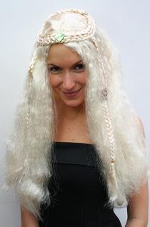 Hippie Perücke blond lang Mittelscheitel - Vorschau 2