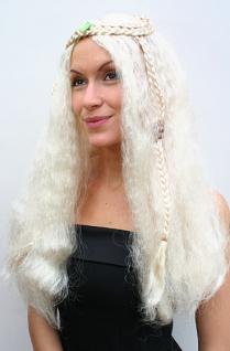 Hippie Perücke blond lang Mittelscheitel