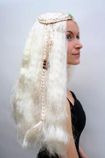 Hippie Perücke blond lang Mittelscheitel - Vorschau 3