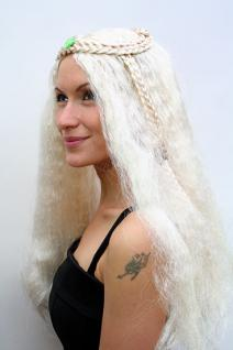 Hippie Perücke blond lang Mittelscheitel - Vorschau 4