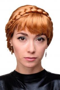 Damen Perücke märchenhaft traditionell geflochten rupferblond blond GFW2031B