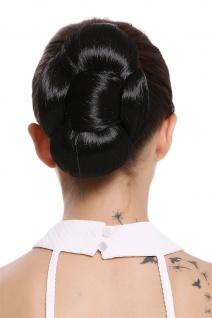 WIG ME UP Haarteil Dutt Haarknoten Haarschleife Schleife Daisy Schwarz O2-1B