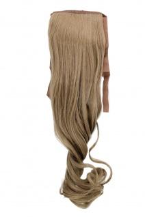 Haarteil ZOPF Asch-Blond wellig 45cm YZF-TC18-16 Band Klammer Haarverlängerung