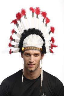 Riesige Halloween Karneval Indianerhaube Häuptling Federschmuck Indianer RH-022 - Vorschau 1