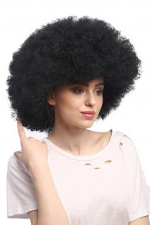 Perücke Karneval Fasching Großer Afro Afroperücke XXL Schwarz XR-002-P103 - Vorschau 3