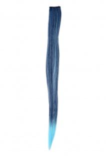 1 Clip-In Extension Strähne Haarverlängerung glatt Blau YZF-P1S18-T4027TTF2513