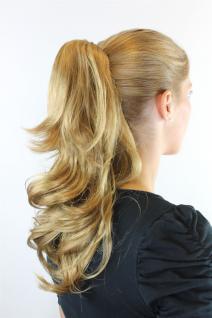 Haarteil Zopf Blond, Dunkelblond ca. 45cm gewellt Butterfly-Clip JL-0067-18-25 - Vorschau 2