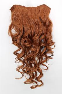 Clip-in Haarteil mit 7 Klammern, 3/4 Perücke, rot, kupfer, Länge: 50cm, H9503-30
