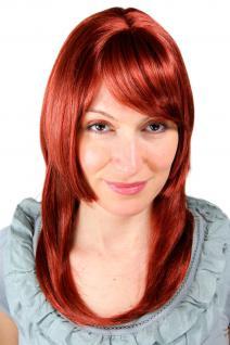 Rote Perücke, glatt, gestuft, schick 6308-350 ca. 50 cm