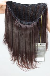 Clip-in Haarteil, 7 Klammern, Halbperücke, braun, Länge ca. 45 cm, H9504-2T33