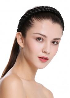 Haarband Haarreif geflochten Tracht traditionell schwarzbraun braid CXT-002-002