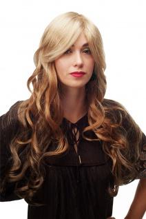 Atemberaubend schöne Damenperücke Perücke WIG Braun Blond Mix wellig lang A6-G15