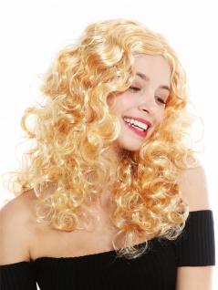 Perücke Damen Karneval Locken Volumen Lockenpracht Mittelscheitel Blond 3072-P03