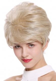 Damenperücke Perücke kurz toupiert voluminös blond grau gesträhnt meliert DW2461