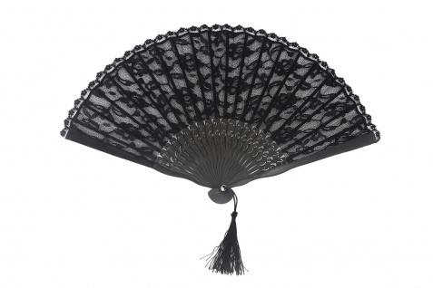 Barock Viktorianisch Damenfächer Fächer Edeldame Adlige Königin Schwarz SZ-001-B