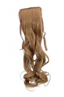 Haarteil ZOPF Blond wellig 45cm YZF-TC18-22 Band Haar Klammer Haarverlängerung