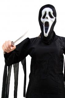 Horror Kostüm Scream/Der Schrei Halloween Umhang schwarz Kapuze Damen/Herren K13 - Vorschau 2