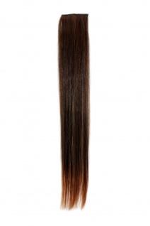 2 Clips Strähne glatt Dunkel-Rot-Braun YZF-P2S18-2T30 45cm Haarverlängerung
