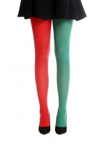Strumpfhose Pantyhose Damenkostüm Karneval Halloween rot grün S/M WZ-013GR