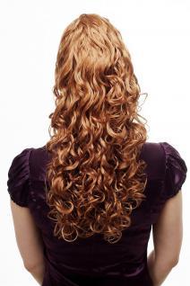 Voluminös wallendes Haarteil/Zopf, lockig, sehr lang, Blond 60 cm N310-27C