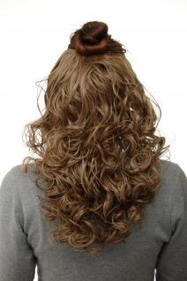 Haarteil Halbperücke Clip-In Haarverlängerung Locken Honigblond 40cm H9312-15
