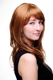 Damenperücke lang Perücke rotblond blond Pony Scheitel frisierbar gestuft 4038 - Vorschau 3