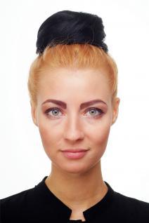 WIG ME UP Dutt Haarknoten Bun Haarteil 60er Jahre Vintage Look Schwarz NHA-004D