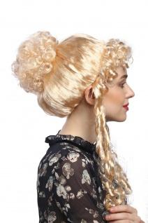 Perücke Dame Karneval Fasching historisch Biedermeier Romantik Renaissance Blond - Vorschau 3