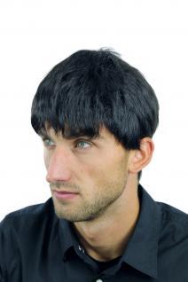 Perücke Herrenperücke Männer kurz schwarz schwarzbraun glatt WL-0204-2 Wig Men